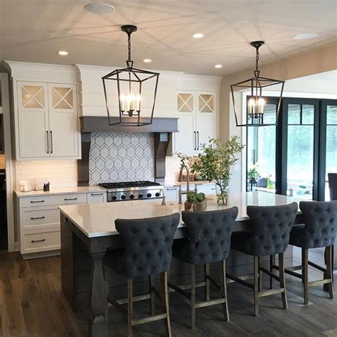 black kitchen island with stools loved this kitchen by bruce heys builders during my parade of homes tour for the home home