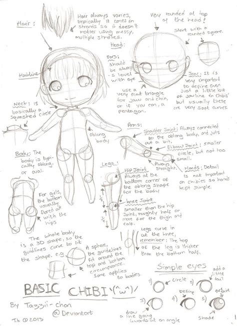 4 Drawing Techniques by Basic Chibi Tutorial By Tazzii Chan Deviantart On