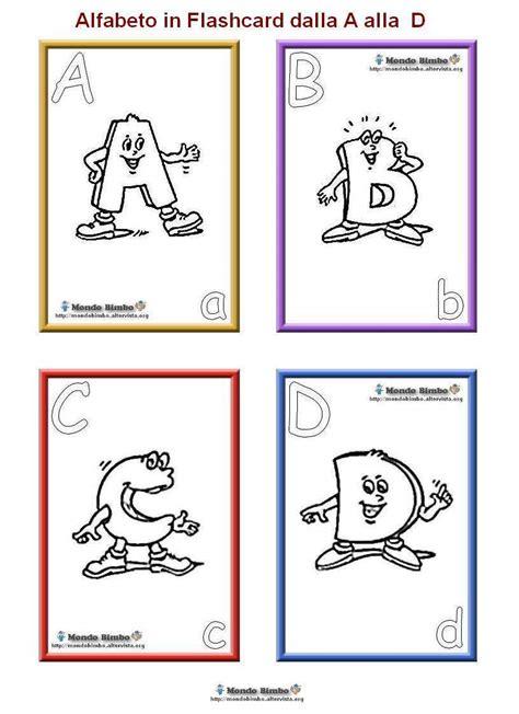lettere alfabeto da colorare scuola infanzia alfabeto in flashcard da colorare e stare mondo bimbo
