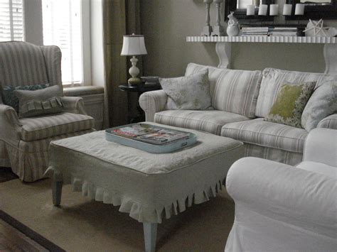 coffee table slipcover glamorous ottoman slipcover in living room traditional