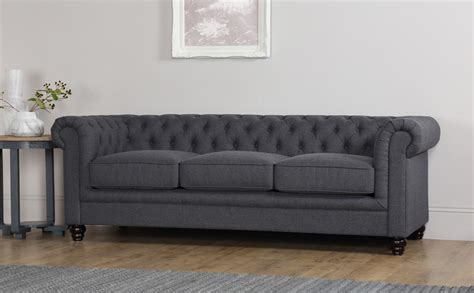 Grey Fabric Chesterfield Sofa Hton 3 Seater Fabric Chesterfield Sofa Slate Grey Only 163 649 99 Furniture Choice