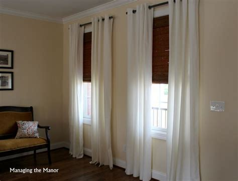 Blinds At Ikea White Ikea Merete Curtains And Bamboo Shades Add A