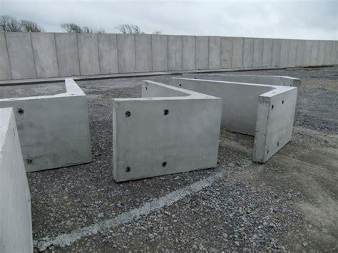 in wall l installation method precast bunker walls