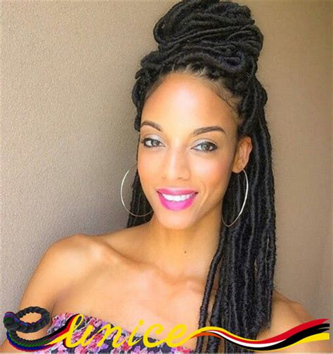 artificial dreadlock hairstyles goddess synthetic dreads faux locs free shipping hot sale