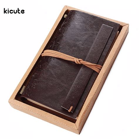 sketchbook gift new vintage pu leather travel journal diary blank paper