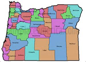 oregon map with counties free oregon maps