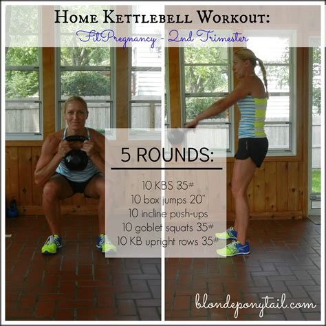 home kettlebell workout ponytail