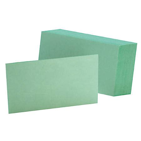 oxford custom printable index cards template oxford color index cards unruled 3 x 5 green pack of 100