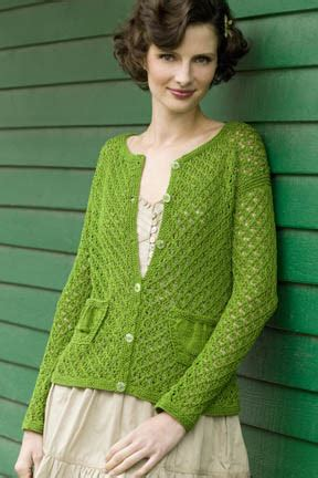 greensleeves cardigan in cotton classic lite tahki charles
