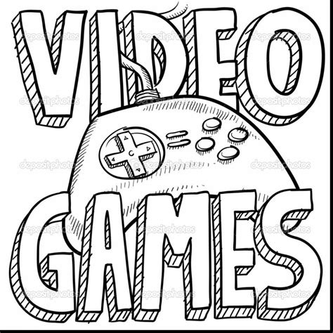 drawing coloring pages games video game clipart drawing pencil and in color video