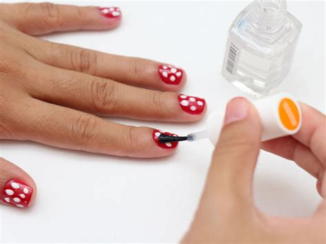 easy nail art wikihow how to do polka dot nail art 5 steps with pictures