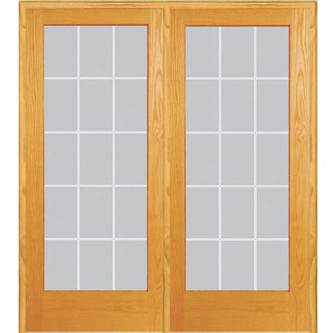 prehung interior french doors home depot mmi door 60 in x 80 in left hand active unfinished pine