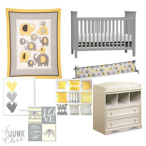 grey and yellow nursery bedding be junk chic elephant yellow grey nursery