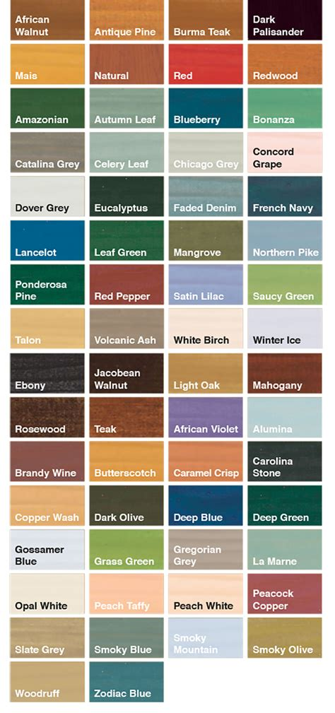 wood paint colours chart crowdbuild for