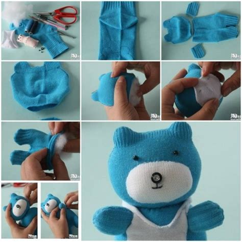 teddy bear baby toys step by step diy tutorial