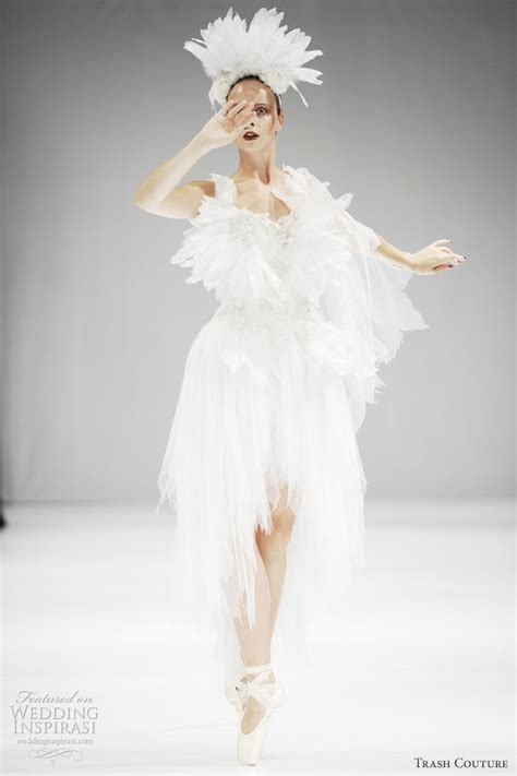 White Swan Dress trash couture wedding dresses 2012 black swan