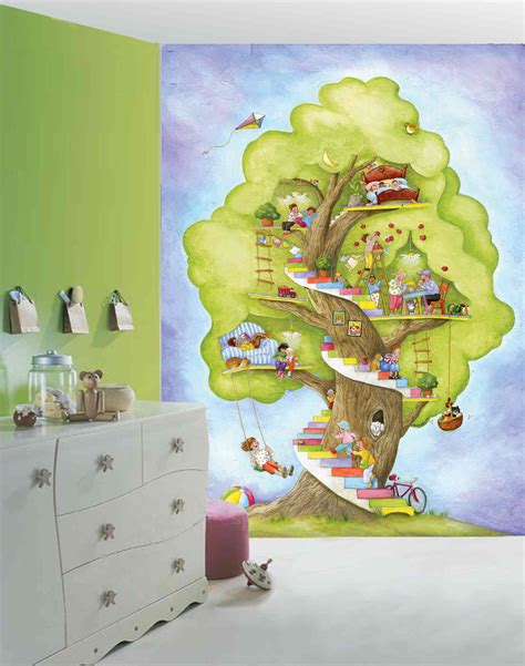 reusable wall murals my tree house 6 w by 8 h wall mural ebay