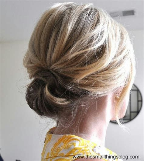 hair tutorials for shoulder length hair low loose bun i actually want to now pinterest