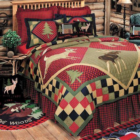quilt comforters lodge wildlife patchwork quilt bedding
