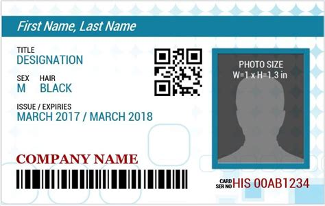portrait id card template id badge template madinbelgrade