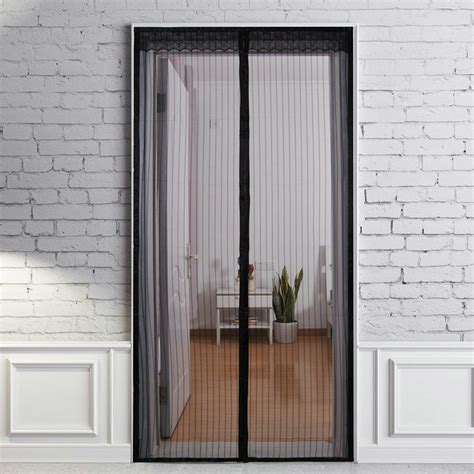 screen curtain door new magic curtain door mesh magnetic fastening hands free