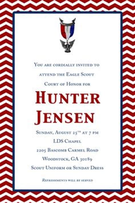 Eagle Scout Court Of Honor Invitations And Program With Scout Law 20 00 Via Etsy Eagle Eagle Scout Announcement Templates