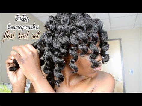flexi rod stretch long 4b c hair a video tutorial on how i achieve fluffy bouncy curls