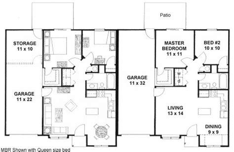 small duplex plans small duplex plan with garage storage and safe room love
