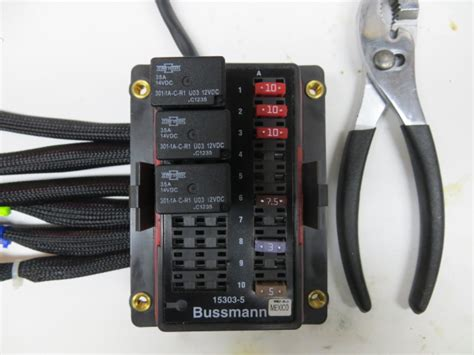 single relay fuse block wiring library