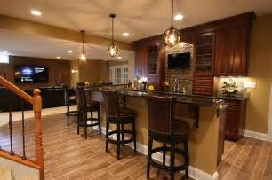 Wet Bars In Basements Basement Wet Bar Traditional Basement Dc Metro By