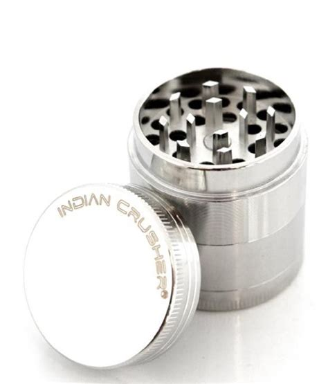 Kitchen Spice Grinder India Indian Crusher Tobacco Spice Silver Stainless Steel