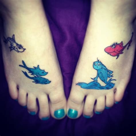dr seuss tattoos my new dr seuss one fish two fish fish blue