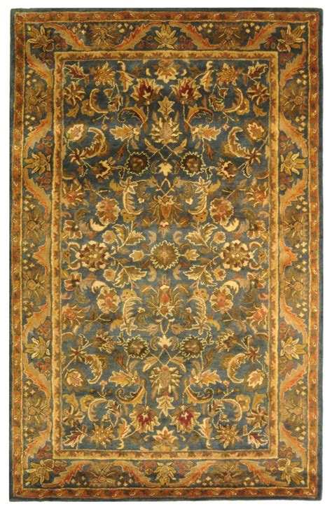 blue and gold rug safavieh antiquity at52c blue and gold area rug free shipping