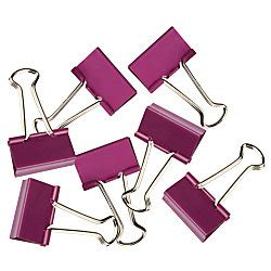 Binder Clip 155 1 Pak 12 Pc fashion binder 1 14 purple pack of 12 by office depot officemax