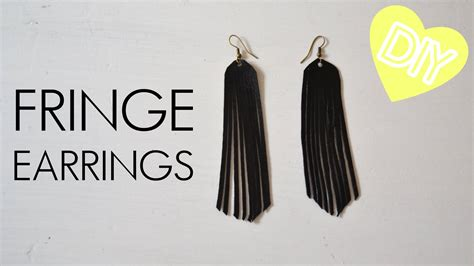 Faux Leather Earring diy fringe earrings from faux leather how to tutorial