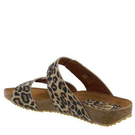 Sandal Leopard marta jonsson womens footbed sandal 1010l s leopard