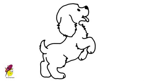 draw puppy standing baby how to draw a easy drawing