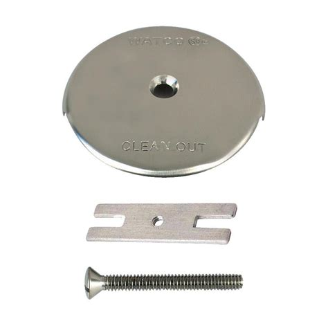 bathtub hole repair kit watco 1 hole bathtub overflow plate kit brushed nickel