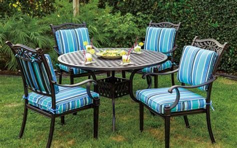 5pc Patio Set by Patio Furniture Dining Set Cast Aluminum 42 Quot Or 48 Quot