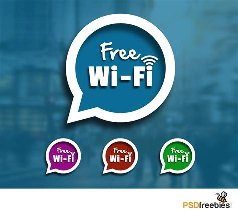 Free Wifi Sign Speech Blurb Icon Psd Download Download Psd Free Wifi Poster Template