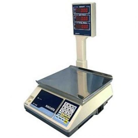 Timbangan Lantai 1 Ton nagata sp 88r pole display type price computing scale