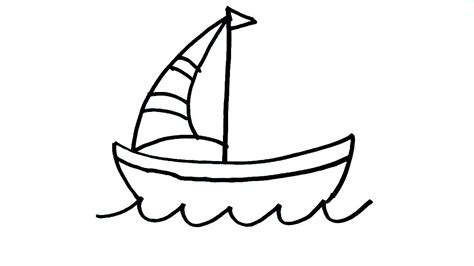 boat easy drawing how to draw boat drawing for kids easy boat art step by