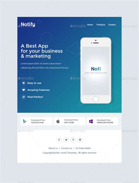 Notify Notification Email Template Psd By Kalanidhithemes Graphicriver It Notification Email Template