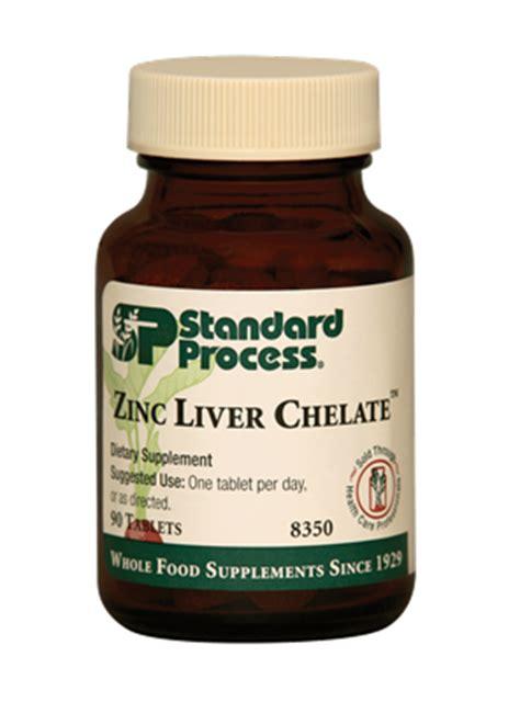 Zinc Liver Detox by Zinc Liver Chelate 90 Tablets Standard Process