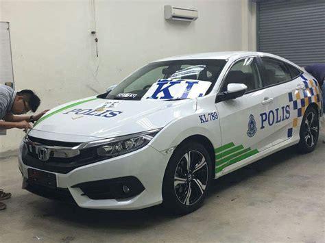 kereta honda civic polis guna honda civic 2016 sebagai kereta peronda