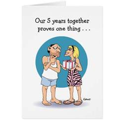 5 year anniversary card zazzle
