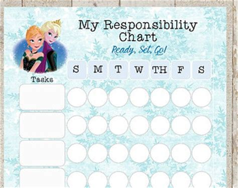 printable frozen sticker chart 9 best images of free printable frozen behavior charts
