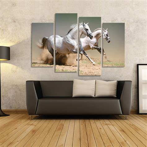 horse decorations for home aliexpress com buy 4 piece picture running white horse