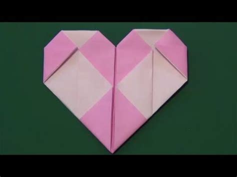 origami quot tile quot 折り紙 格子ハート
