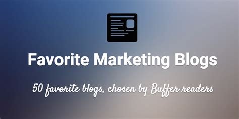 social media marketing plan buffer blog thoughts on 50 favorite marketing social and productivity blogs
